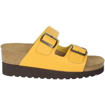 Schoenen Dames Leren slippers Novaflex BRANDICO Mustard