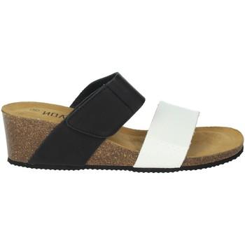 Schoenen Dames Leren slippers Novaflex BISUSCHIO White/Black