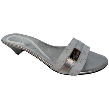 Schoenen Dames Leren slippers Keys  Zilver