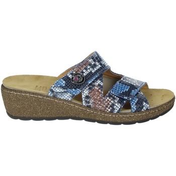 Schoenen Dames Leren slippers Novaflex FORESTO Blue