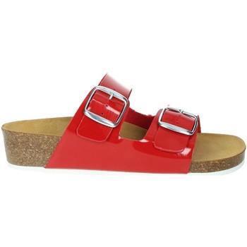 Schoenen Dames Leren slippers Novaflex FARINDOLA Red