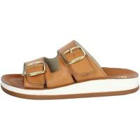 Schoenen Dames Leren slippers Novaflex FALOPPIO Brown leather