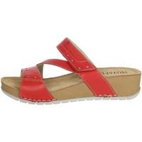Schoenen Dames Leren slippers Novaflex FALERONE Red