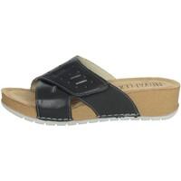Schoenen Dames Leren slippers Novaflex FALERNA Black