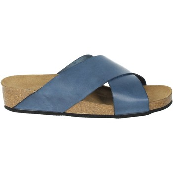 Schoenen Dames Leren slippers Novaflex BREIA Blue