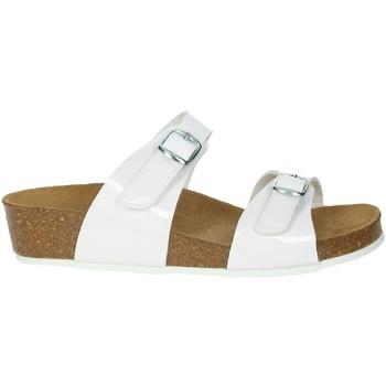 Schoenen Dames Leren slippers Novaflex BRANDIZZO White