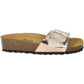 Schoenen Dames Leren slippers Novaflex BISEGNA Light dusty pink