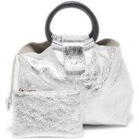 Tassen Dames Handtassen kort hengsel Victor & Hugo ILANA ARGENT