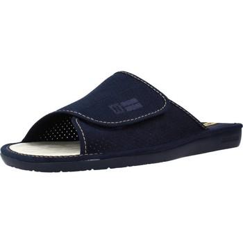 Schoenen Heren Leren slippers Nordikas 3116N 3116 Blauw