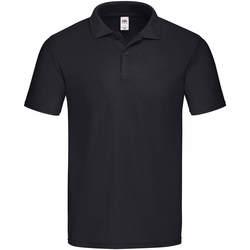 Textiel Heren Polo's korte mouwen Fruit Of The Loom 63050 Zwart
