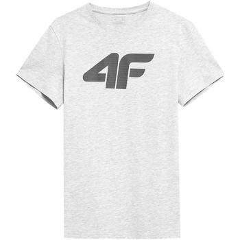 Textiel Heren T-shirts korte mouwen 4F TSM353 Blanc
