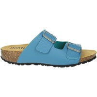 Schoenen Dames Leren slippers Novaflex FELETTO Light Blue