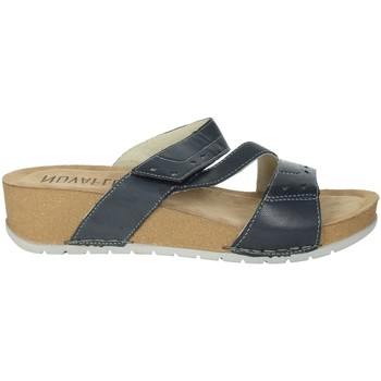 Schoenen Dames Leren slippers Novaflex FALERONE Blue