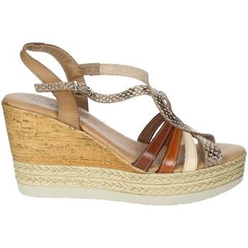 Schoenen Dames Sandalen / Open schoenen Novaflex BARZIO Brown leather