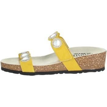 Schoenen Dames Leren slippers Novaflex ADRARA Yellow