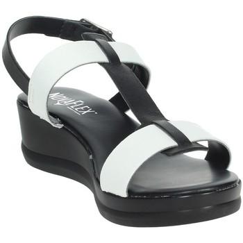 Schoenen Dames Sandalen / Open schoenen Novaflex ACERENZA White/Black