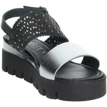 Schoenen Dames Sandalen / Open schoenen Novaflex AGOSTA Black/Silver