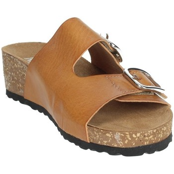 Schoenen Dames Leren slippers Novaflex AFRICO Brown leather