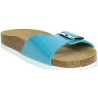 Schoenen Dames Leren slippers Novaflex FASCIA Sky-blue