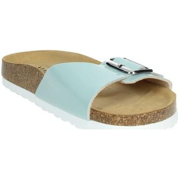 Schoenen Dames Leren slippers Novaflex FASCIA Aqua