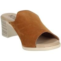 Schoenen Dames Leren slippers Novaflex BARBERINO Brown leather