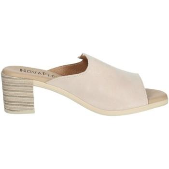 Schoenen Dames Leren slippers Novaflex BARBERINO Light dusty pink