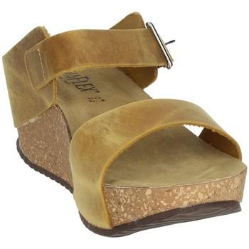 Schoenen Dames Leren slippers Novaflex ANNICCO Mustard