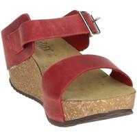 Schoenen Dames Leren slippers Novaflex ANNICCO Red