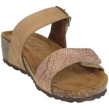 Schoenen Dames Leren slippers Novaflex ANDEZENO Brown leather