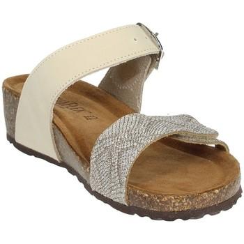 Schoenen Dames Leren slippers Novaflex ANDEZENO Beige
