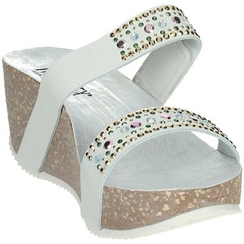 Schoenen Dames Leren slippers Novaflex AGNOSINE White