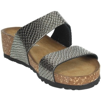Schoenen Dames Leren slippers Novaflex AGEROLA Charcoal grey