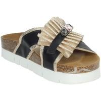 Schoenen Dames Leren slippers Novaflex ACRI Black/Gold