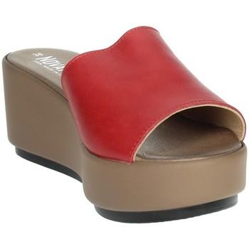 Schoenen Dames Leren slippers Novaflex ACQUAPPESA Red