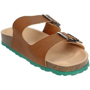 Schoenen Heren Leren slippers Novaflex BRENNA Brown leather
