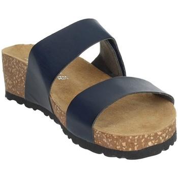Schoenen Dames Leren slippers Novaflex AGAZZANO Blue
