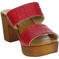 Schoenen Dames Leren slippers Novaflex ACQUAFONDATA Red