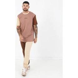Textiel Heren T-shirts korte mouwen Sixth June T-shirt  Tricolor Regular beige