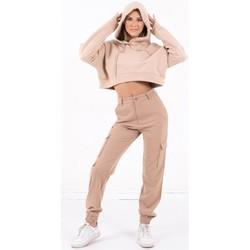 Textiel Dames Sweaters / Sweatshirts Sixth June Sweatshirt Crop Top femme  Acid Printed beige