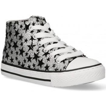 Schoenen Meisjes Hoge sneakers Bubble 58906 Zilver