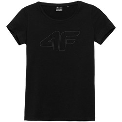 Textiel Dames T-shirts korte mouwen 4F TSD353 Noir