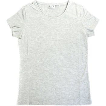 Textiel Dames T-shirts korte mouwen 4F TSD353 Gris
