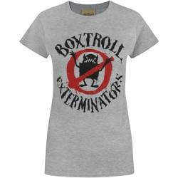 Textiel Dames T-shirts korte mouwen Boxtrolls  Grijs