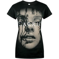 Textiel Dames T-shirts korte mouwen Carrie  Zwart