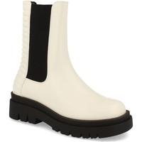 Schoenen Dames Enkellaarzen Milaya 8K13 Blanco