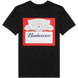 Textiel Heren T-shirts korte mouwen Budweiser  Zwart