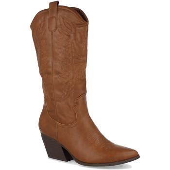 Schoenen Dames Hoge laarzen Milaya 9K6 Camel