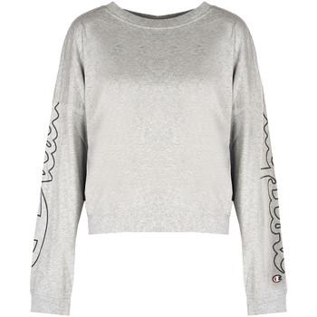 Textiel Dames T-shirts met lange mouwen Champion  Grijs