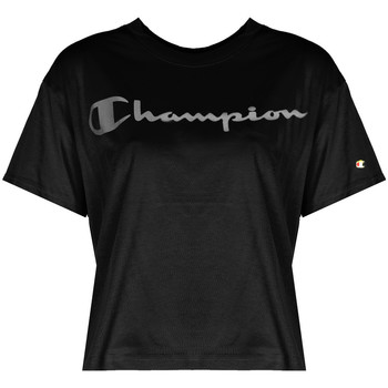 Textiel Dames T-shirts korte mouwen Champion  Zwart