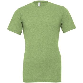 Textiel T-shirts korte mouwen Bella + Canvas CVC3001 Heide Groen
